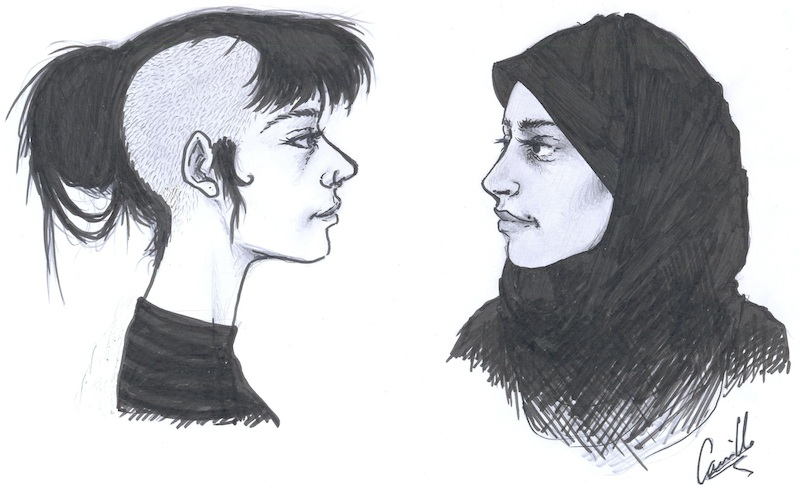 Moi La Musulmane Voilee Toi La Punk Au Piercing Et Crane Rase La Zep
