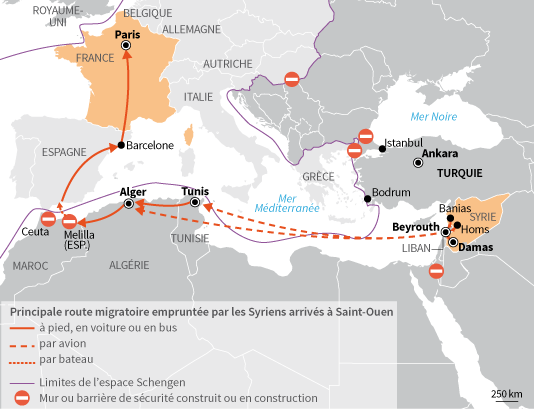 Parcours refugies syriens