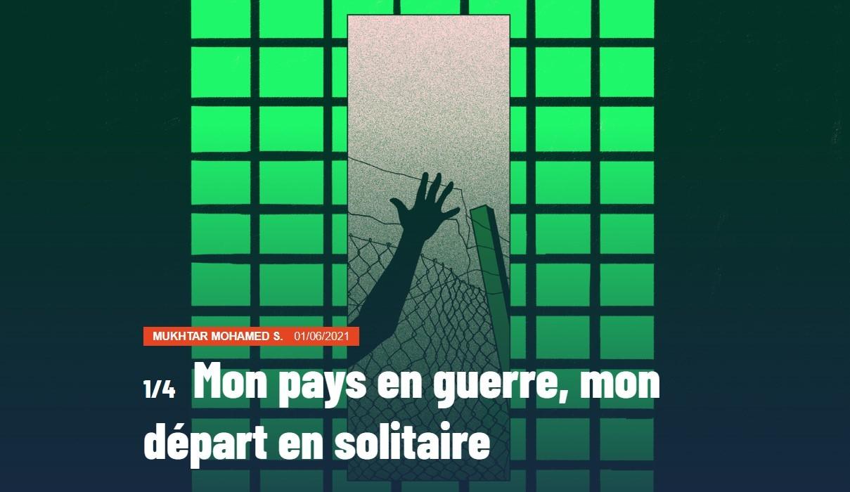 Illustration sur laquelle on voit une main se prendre dans des barbelés. Derrière, des barreaux de prison.